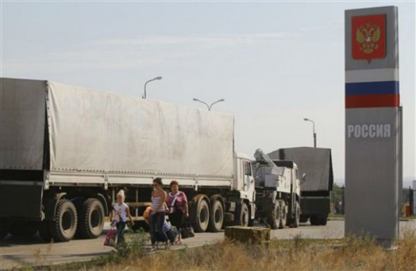 WRAPUP 2-Trucks From Help Caravan To Ukraine Begin Intersection Go Into Russia