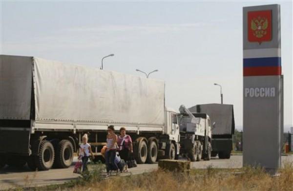 WRAPUP 2-Trucks From Help Caravan To Ukraine Begin Intersection Go Into Russia