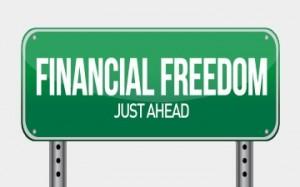 financial freedom street sign illustration design over white