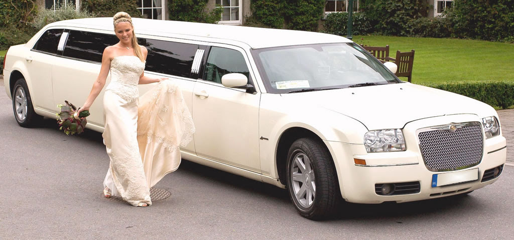 A Chrysler 300c Is Featured Among The Premium Services Offered In Wedding Limousine Hire